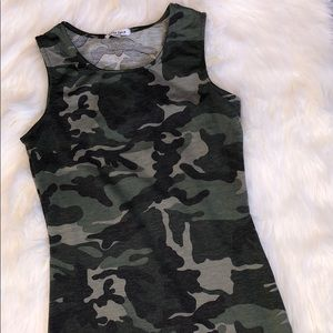 NEW! Velvet torch fitted camo dress